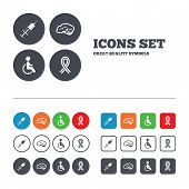 picture of handicapped  - Medicine icons - JPG