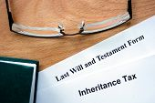 picture of tariff  - Papers with inheritance tax and testament form - JPG