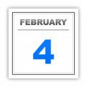 stock photo of february  - February 4 - JPG