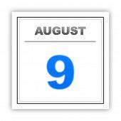 image of august calendar  - August 9 - JPG