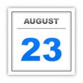 stock photo of august calendar  - August 23 - JPG