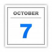 stock photo of october  - October 7 - JPG