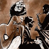 pic of singer  - Jazz band with singer - JPG