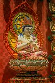 foto of gold tooth  - The Lord Buddha in Chinese Buddha Tooth Relic Temple in Chinatown of Singapore - JPG