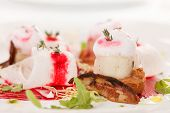 stock photo of scallops  - Scallop seafood appetizer  - JPG