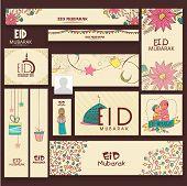 stock photo of eid festival celebration  - Beautiful decorated social media headers - JPG