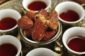 picture of arabic  - Set of Arabic tea cups with date fruits - JPG