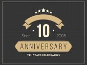 pic of ten  - Ten years anniversary celebration logotype - JPG