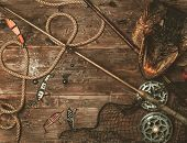 picture of fishing bobber  - Fishing tools and pike - JPG