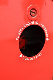pic of truck-stop  - Commercial vehicle emergency engine stop valve sign - JPG