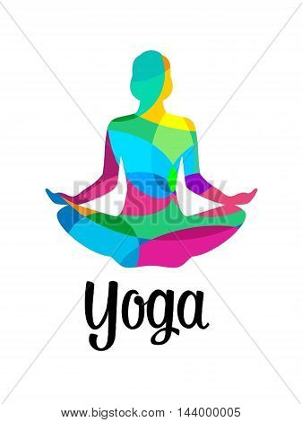 Cool Yoga Design to print on T-shirts, mugs, posters and phone Cases. woman sitting rituals.