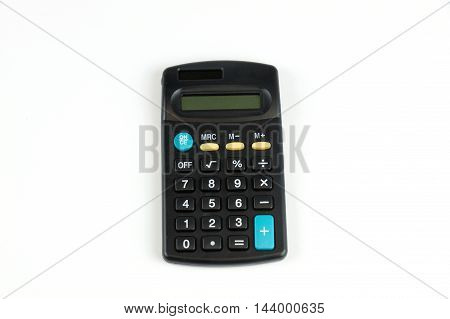 single calculator isolated on white background for design