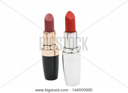 lipstick  make-up, individuality on a white background