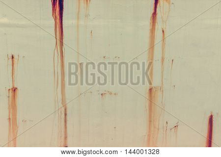 Background Of Rusty With Drop On Steel Wall Texture