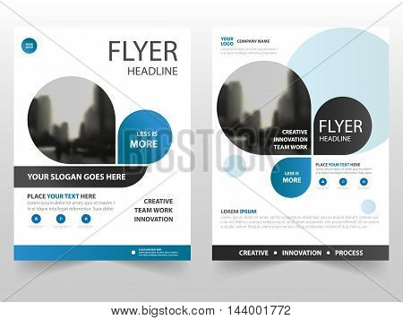 Blue business Brochure Leaflet Flyer annual report template design book cover layout design abstract business presentation template a4 size design