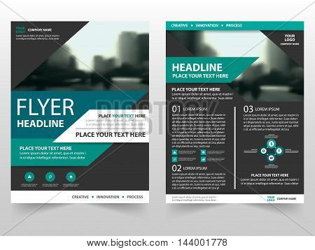 Green black triangle business Brochure Leaflet Flyer annual report template design book cover layout design abstract business presentation template a4 size design