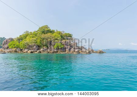 Island In Tropical Waters At Andaman Sea Thailand