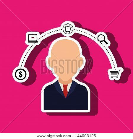 customer shop online money vector illustration eps 10
