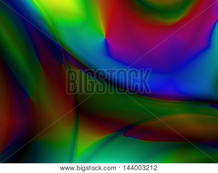 Contemporary modern art fractal image using vibrant colors
