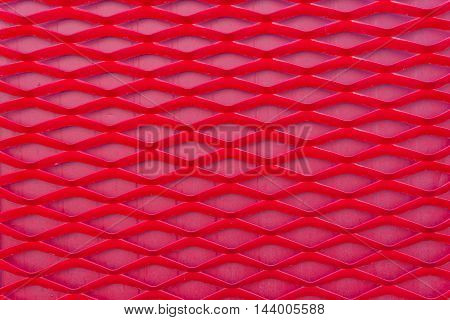 Art Of Plastic Geometric Red Pattern For Background