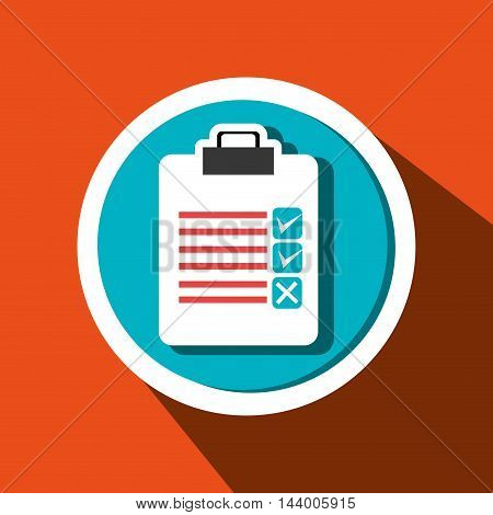 clipboard check list icon vector illustration eps 10