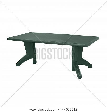 outdoor plastic table isolated on a white