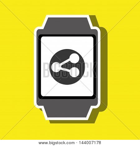 technology applications smartwatch vector illustration eps 10