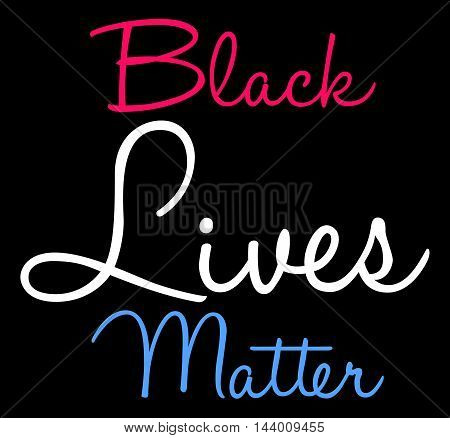 Black Lives Matter Word Cloud on a black background.