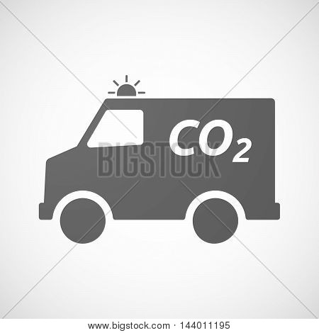 Isolated Ambulance Icon With    The Text Co2