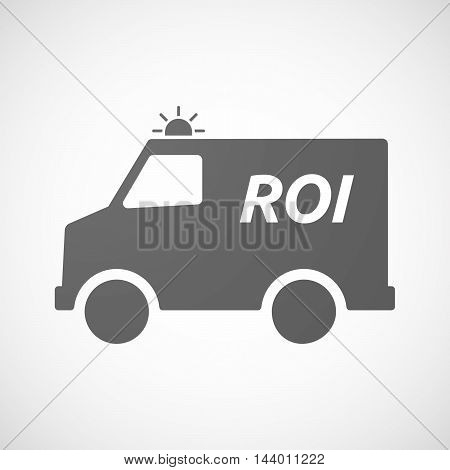Isolated Ambulance Icon With    The Return Of Investment Acronym Roi