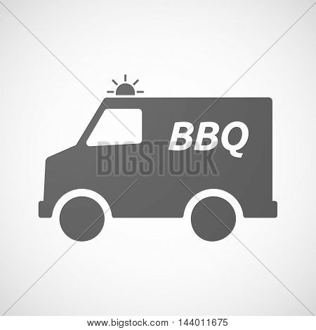 Isolated Ambulance Icon With    The Text Bbq