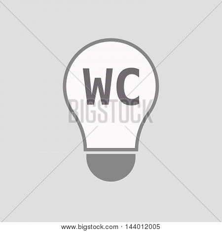 Isolated Line Art Light Bulb Icon With    The Text Wc