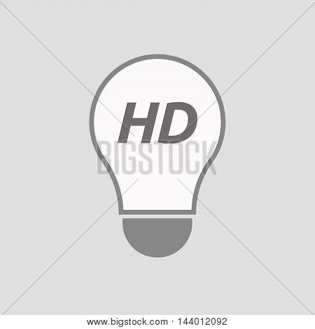 Isolated Line Art Light Bulb Icon With    The Text Hd
