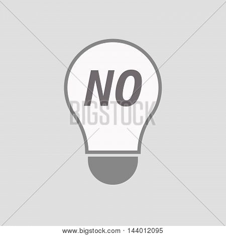 Isolated Line Art Light Bulb Icon With    The Text No