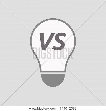Isolated Line Art Light Bulb Icon With    The Text Vs