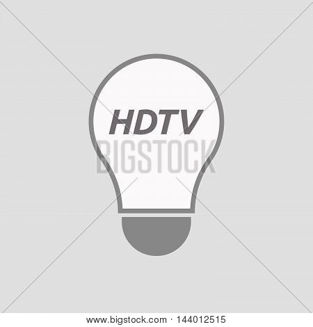 Isolated Line Art Light Bulb Icon With    The Text Hdtv