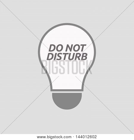 Isolated Line Art Light Bulb Icon With    The Text Do Not Disturb