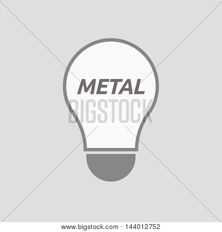 Isolated Line Art Light Bulb Icon With    The Text Metal