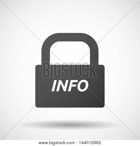 Isolated Closed Lock Pad Icon With    The Text Info