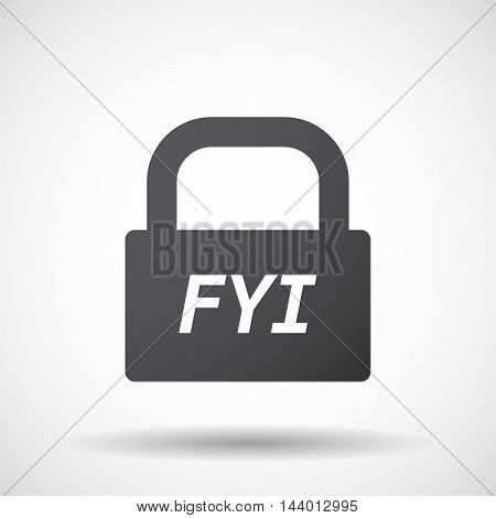 Isolated Closed Lock Pad Icon With    The Text Fyi