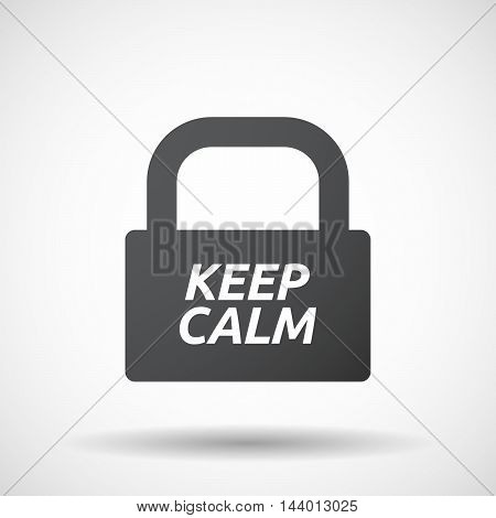 Isolated Closed Lock Pad Icon With    The Text Keep Calm