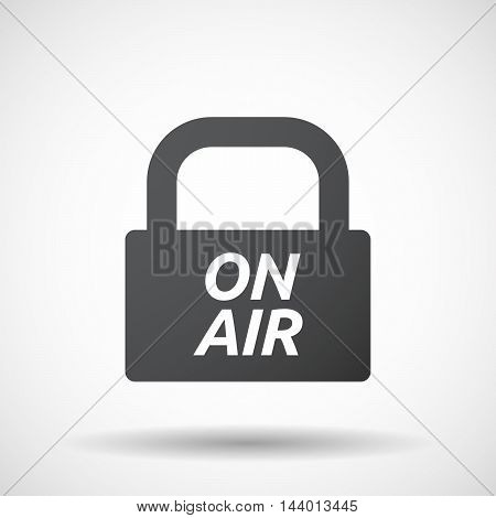 Isolated Closed Lock Pad Icon With    The Text On Air