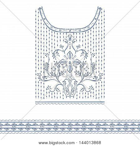Lace decoration for clothes embroidery, decorative print