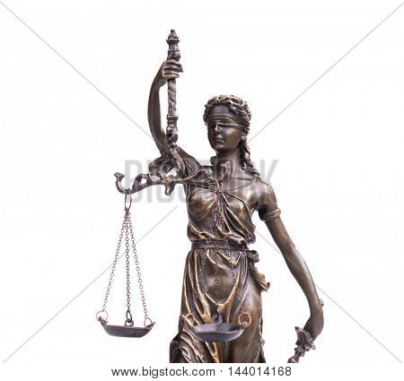 Statue of justice, law concept