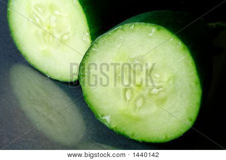 Fresh Cucumber Closeup