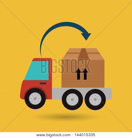 truck delivery shipping cargo vector illustration eps 10