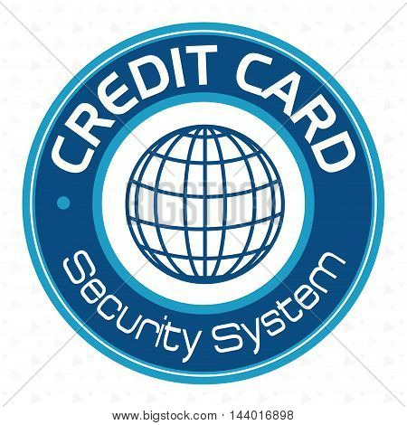 credit card security system vector illustration eps 10