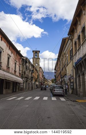 AMATRICE ITALY - OCTOBER 17 2015: Amatrice a town in the province of Rieti in Italy. City destroyed by an earthquake in August 24 2016