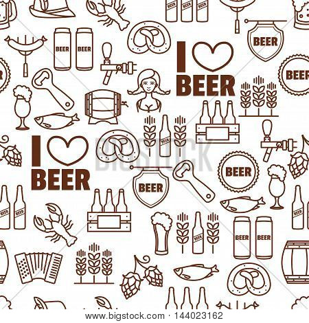 Seamless background of Oktoberfest elements for your design