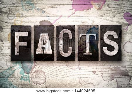 Facts Concept Metal Letterpress Type